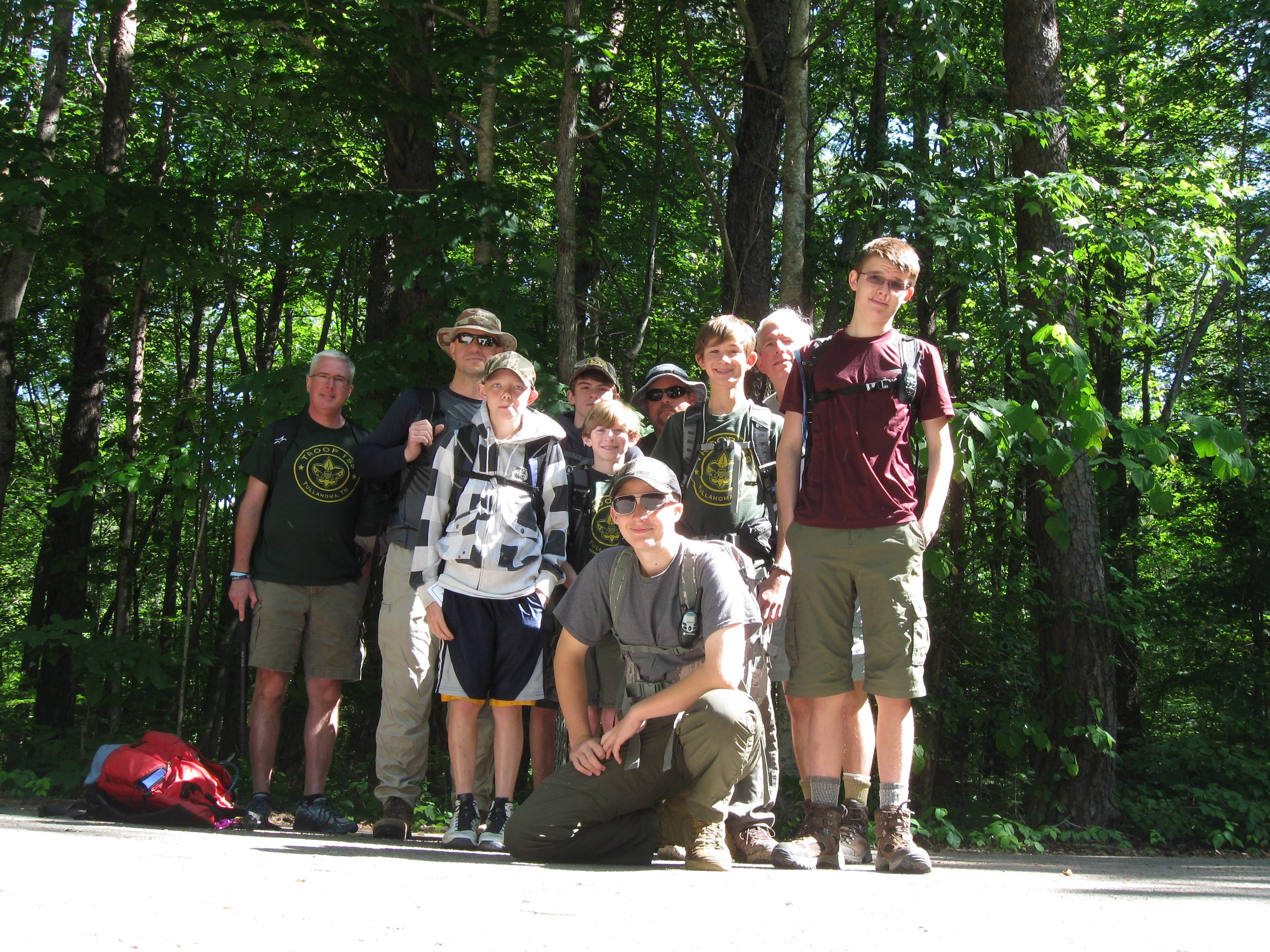Trip length was 8 miles. Attending were Ben and Alan Horrocks Bryan and Lenny Perry Calem Levi Matthews and Michael Brown and Brian and Stuart Coulter. & May 23rd Dayhike to Stone Door - BSA Troop 158